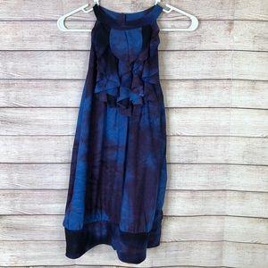 Lane Bryant NWT Tie Dye Sleeveless Ruffle Blouse